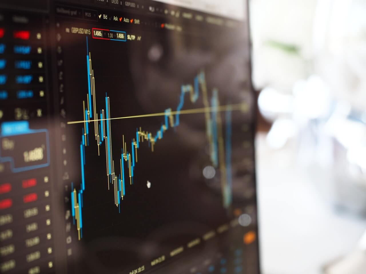 blue-and-yellow-graph-on-stock-market-monitor