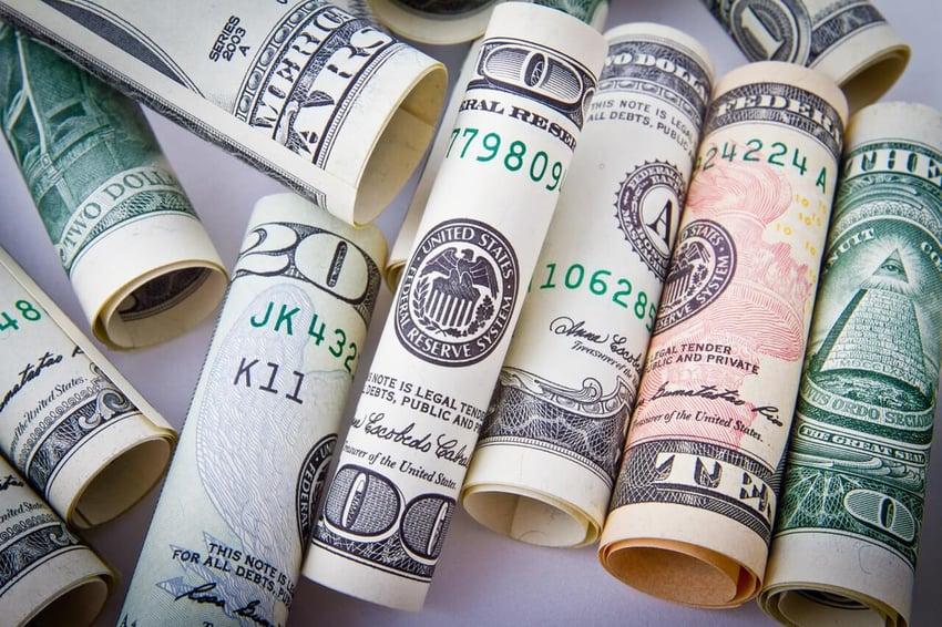 rolled-20-us-dollar-bill